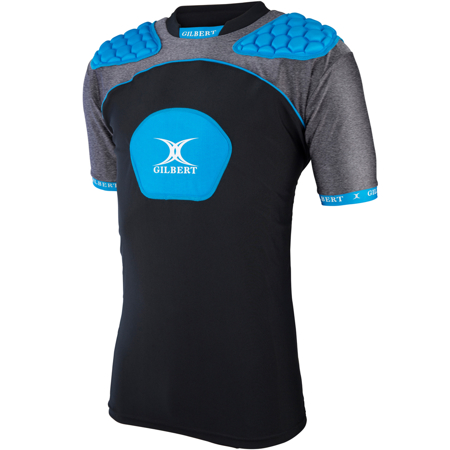 GILBERT ATOMIC V3 BODY ARMOUR - BLACK/BLUE